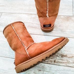 Mid-Calf Tan Ugg Boots